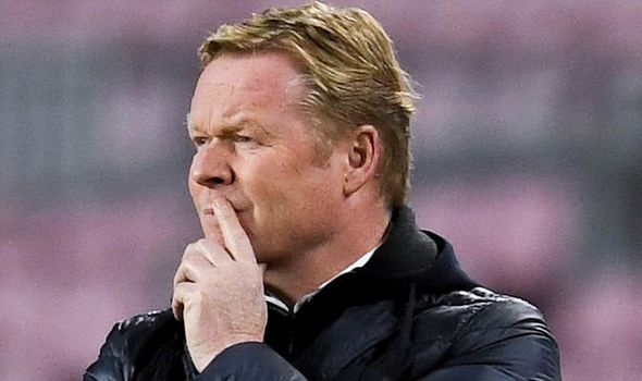 koeman in game against Juventus