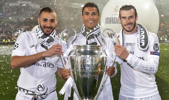 Benzema, Ronaldo and Bale at Real Madrid