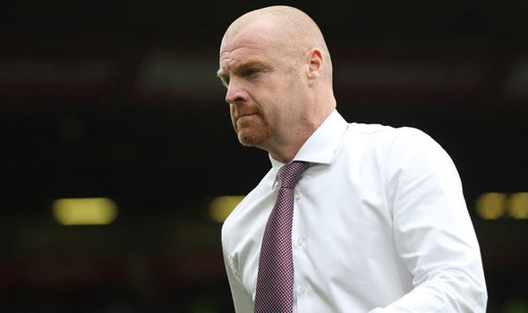 Burnley boss Sean Dyche has been targeted by Everton