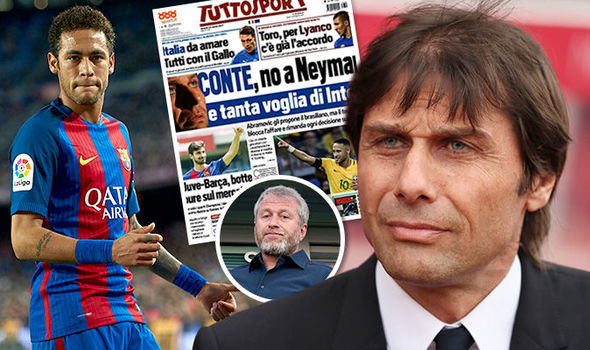 Chelsea news on Conte Abramovic and Neymar