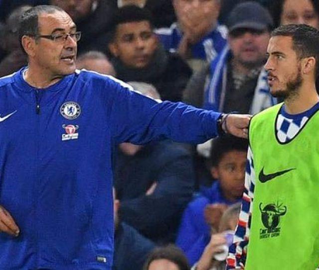 Chelsea News Eden Hazard Maurizio Sarri Antonio Conte
