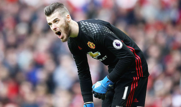 David de Gea in action for Manchester United against Bournemouth