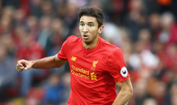 Marko Grujic on the ball for Liverpool against Hull