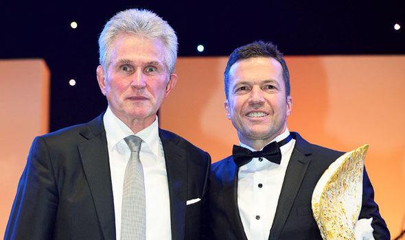 Jupp Heynckes (left)