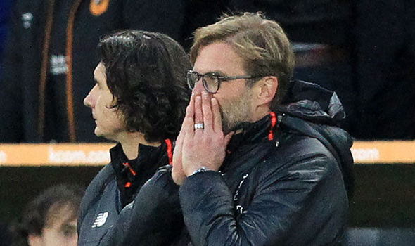 Liverpool boss Jurgen Klopp during the defeat away to Hull