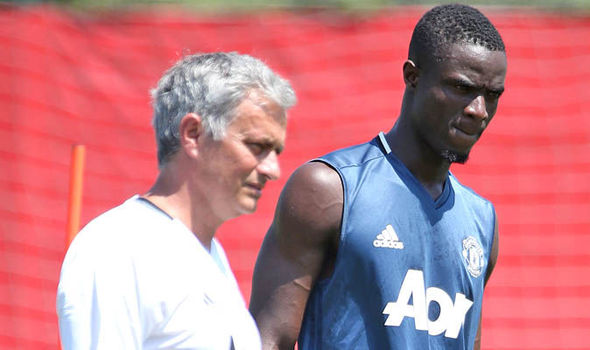 Eric Bailly and Jose Mourinho at Man United