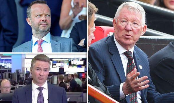 Ed Woodward and ex-Man Utd boss Sir Alex Ferguson