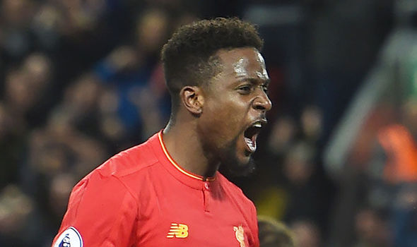 Divock Origi in action for Liverpool