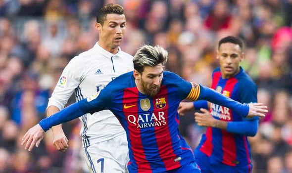 Real Madrid Cristiano Ronaldo Barcelona Lionel Messi