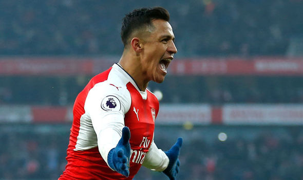 Alexis Sanchez celebrates scoring for Arsenal against Burnley