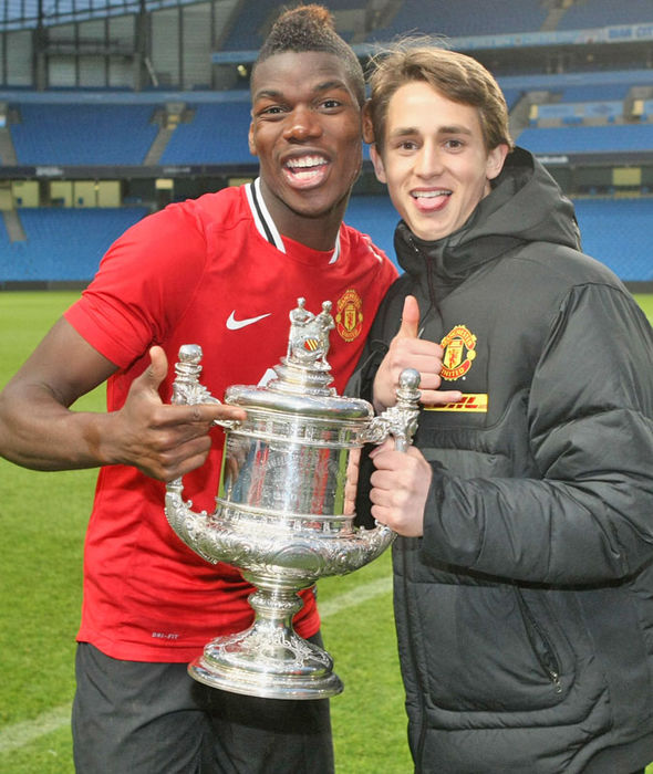 Paul Pogba and Adnan Januzaj