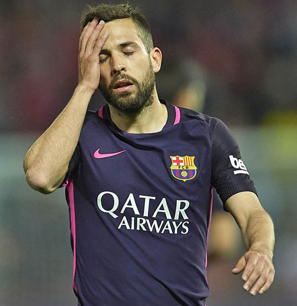 Alba has been left out of some key games for Barcelona this season