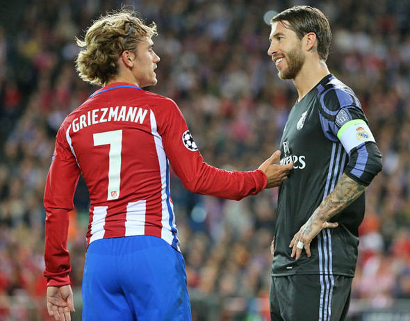 Antoine Griezmann and Sergio Ramos