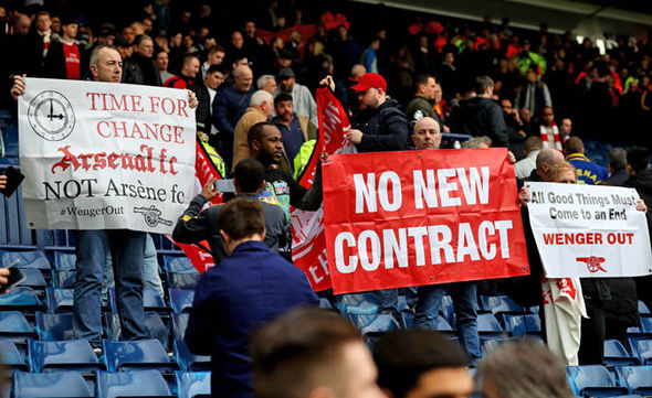 Arsenal fans have protested inside and outside of the stadium