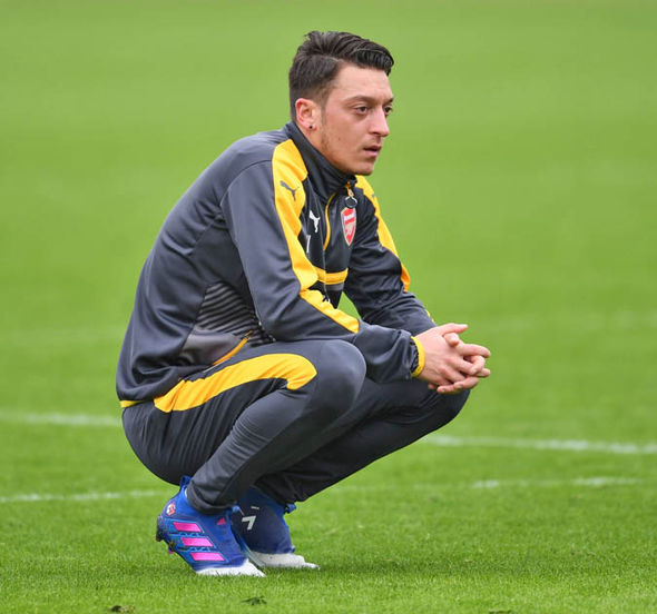 Mesut Ozil at Arsenal training