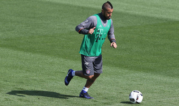 Bayern Munich midfielder Arturo Vidal