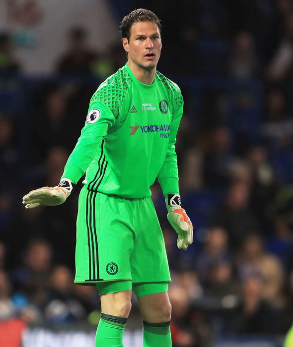 Asmir Begovic in action for Chelsea