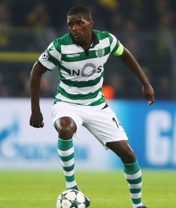 William Carvalho in Champions League action for Sporting Lisbon