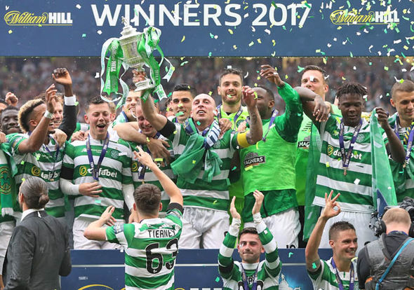 Celtic clinched the Scottish Cup trophy to go the entire domestic season unbeaten