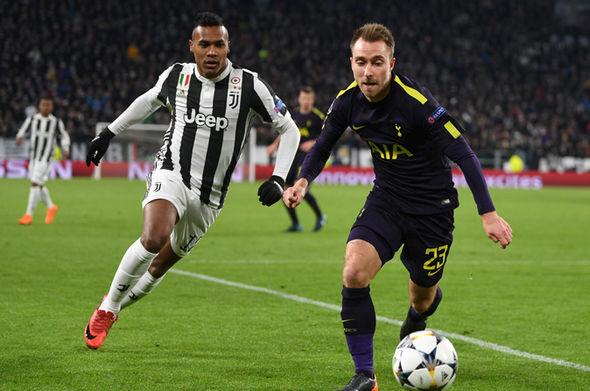 Christian Eriksen  Juventus 2 – Tottenham 2: Eriksen free-kick ensures Spurs complete two-goal comeback | Football | Sport Christian Eriksen 1232448