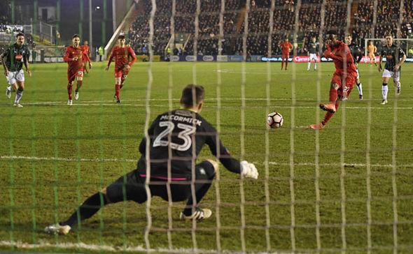 Divock Origi had a penalty saved