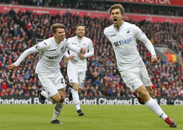 Fernando Llorente scores for Swansea