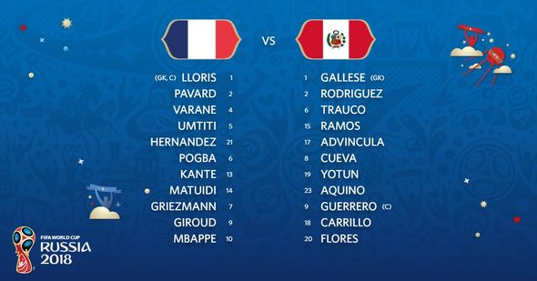 France vs Peru: Live World Cup score, goals and updates as Antoine Griezmann starts  World Cup result: France 1-0 Peru; Kylian Mbappe scores as Les Bleus reach knockout stages | Football | Sport France vs Peru Live World Cup score goals and updates as Antoine Griezmann starts 1390245