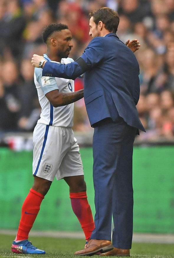 Gareth Southgate and Jermain Defoe
