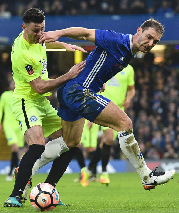 Branislav Ivanovic in action for Chelsea against Peterborough