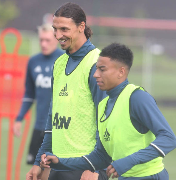 Manchester United training picture