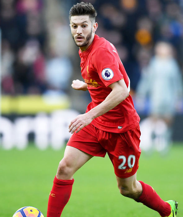 Adam Lallana in action for Liverpool