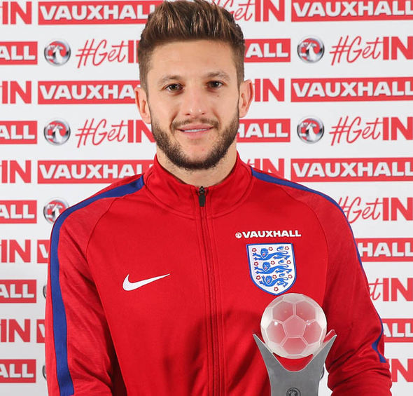 Lallana was recently voted England's best player for 2016