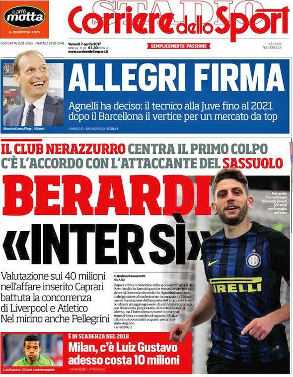 Domenico Berardi on front page