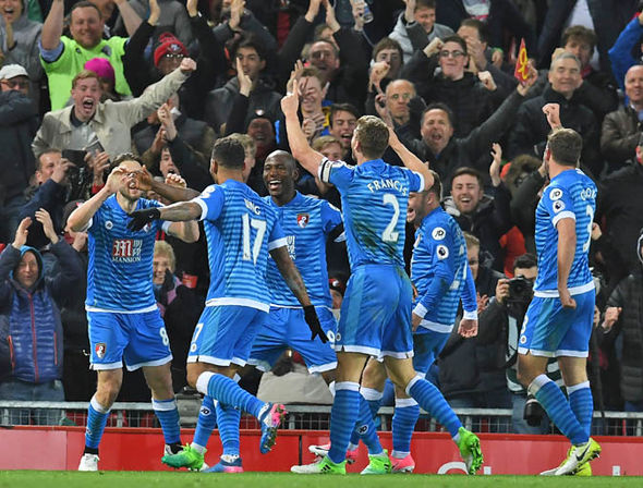 Bournemouth draw with Liverpool