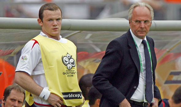 Wayne Rooney Sven Goran Eriksson