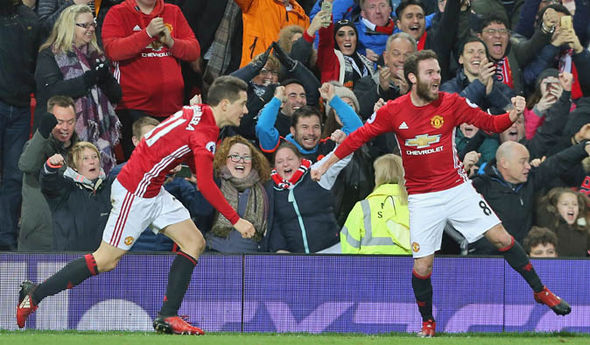 Manchester United are just five points adrift of Tottenham in second place