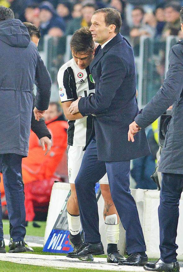 Max Allegri Paulo Dybala Juventus