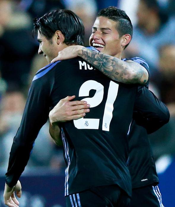 Alvaro Morata celebrating scoring for Real Madrid
