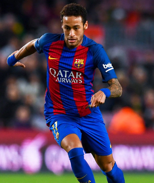 Neymar in action for Barcelona against PSG