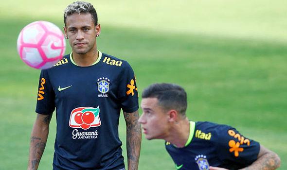 Neymar Philippe Coutinho Brazil
