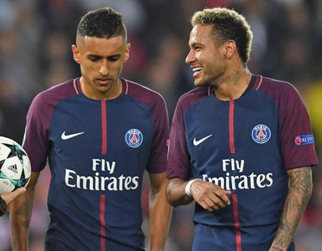 Neymar is close friends with Marquinhos from their days with the Brazil squad