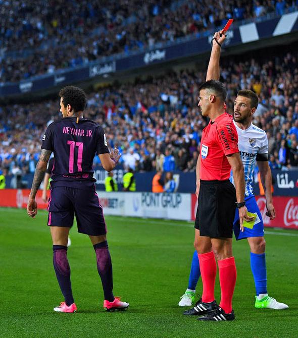 Neymar red card