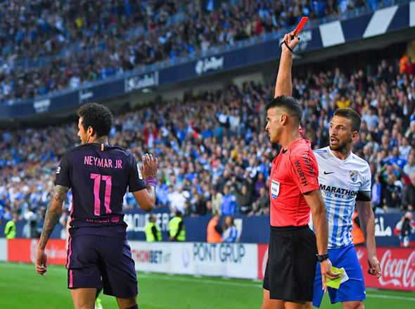 Neymar was handed a three-match ban despite picking up two yellow cards