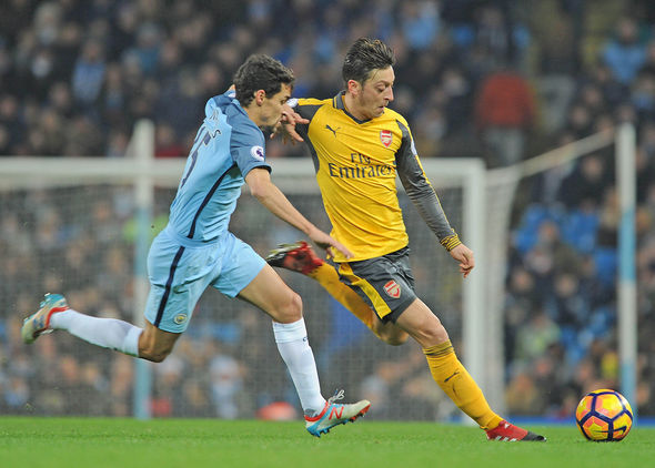 Mesut Ozil Man City