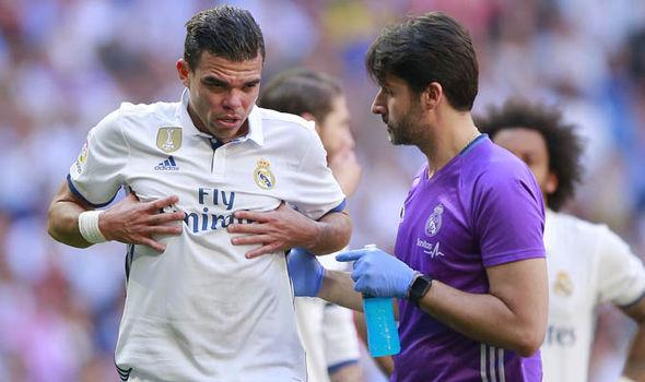 Pepe Real Madrid Bayern Munich