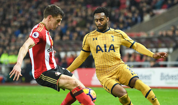 Danny Rose in action for Tottenham against Sunderland