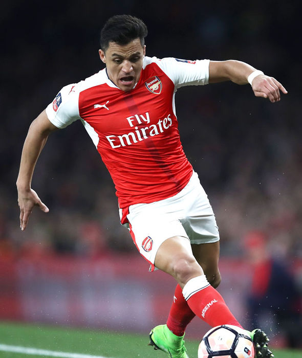 Alexis Sanchez in FA Cup action for Arsenal against Lincoln