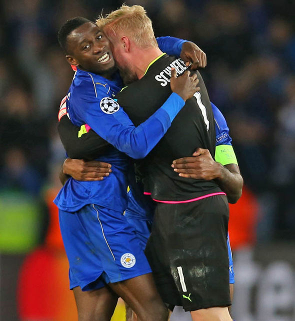 Schmeichel was Leicester's hero against Sevilla in the last round of the Champions League