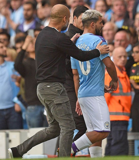 Sergio Aguero had previously been furious with Pep Guardiola after being taken off