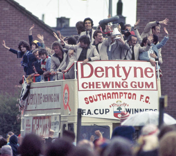 Southampton upset the odds by beating United in the 1976 FA Cup final